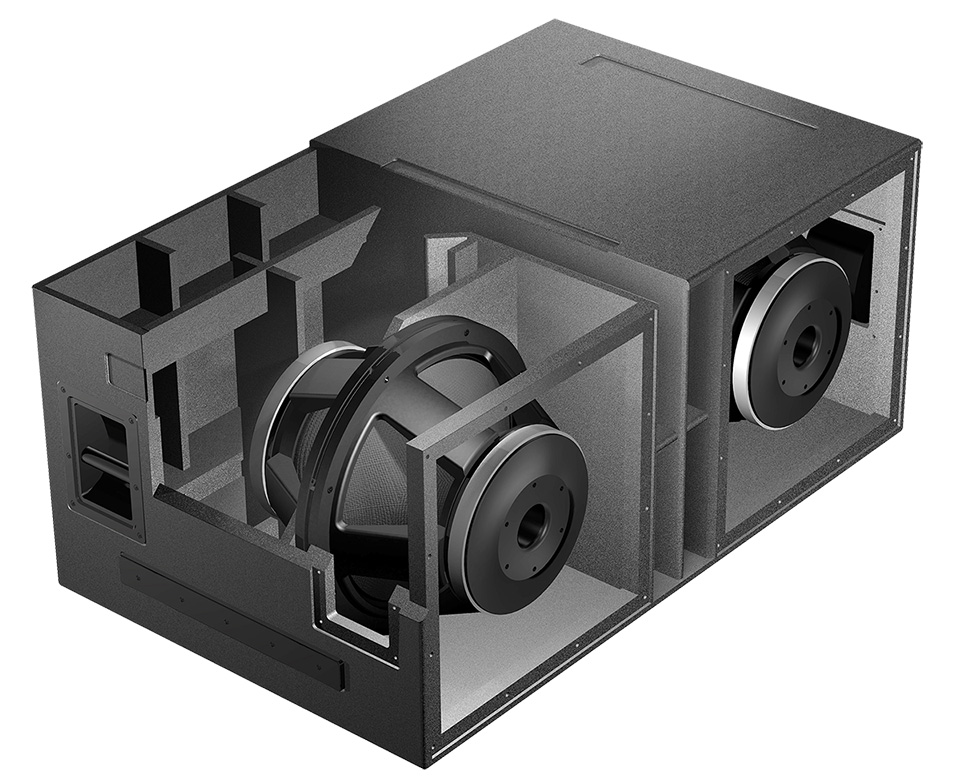 as-418 Isobaric Subwoofer Cut-A-Way View